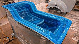 molde pre peg subsituindo processo de rtm spray up laminação manual